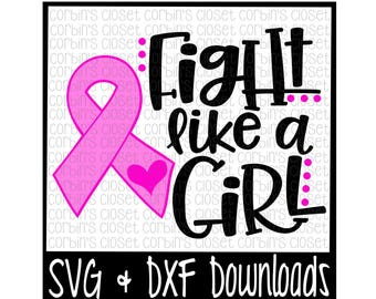 Cancer SVG * Breast Cancer SVG Cut File - dxf & SVG Files - Silhouette Cameo, Cricut