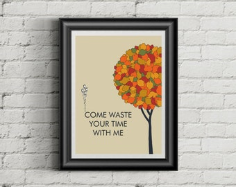 PHISH Inspired Lyric Art Poster Print | 11 x 14 | Waste | Home Decor | Wall Art