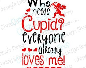 Valentine SVG / cupid SVG / love svg / valentines day cut file / valentine dxf / Cupid silhouette file / vinyl crafts / Valentines clipart
