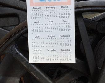 2017 Letterpress Magnet Calendar