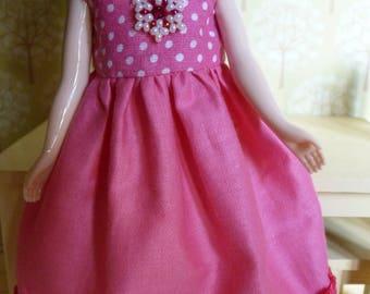 BLYTHE (Takara body) Fuchsia dress with beads