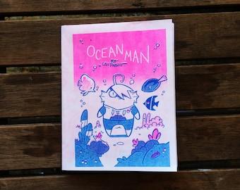 Ocean Man Risograph Comic