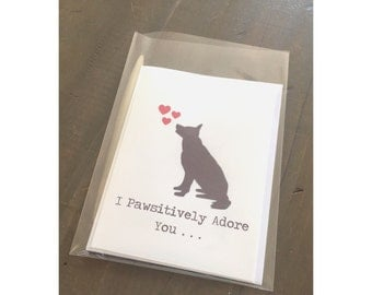 Pawsitively Adore You Card
