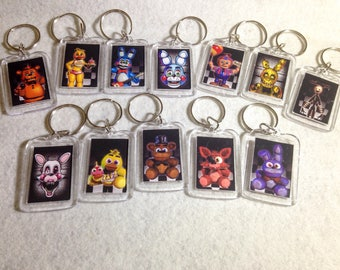 12 FNAF Five Nights at Freddy's Party Favor Keychains