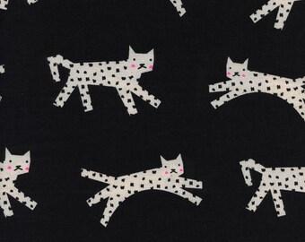 Cotton + Steel- Snow leopards in black- Black and White- Rashida Coleman Hale