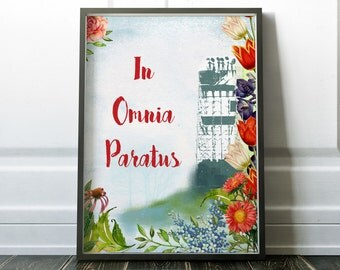 In omnia paratus Poster Stars Hollow Sign Vintage Poster Large Rory Lorelai Print Revival Ready for anything