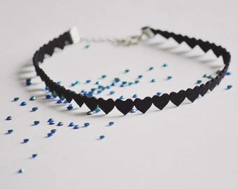 Lovecraft Choker Necklace Little black heart