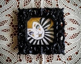 Mardi Gras Jester- Original acrylic/ ink painting