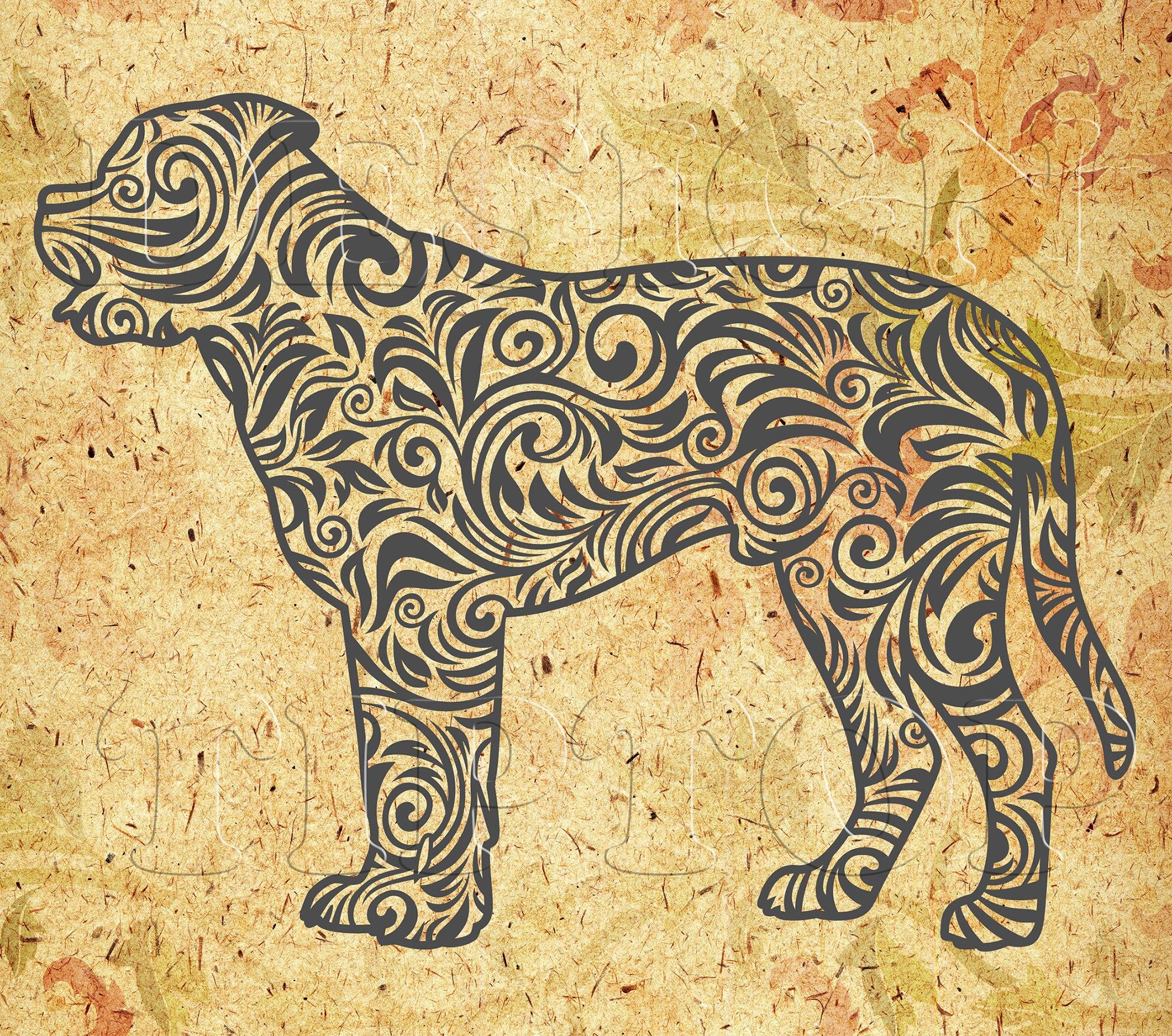 Mastiff Svg Zentangle Svg Dog Art Dog Decor Bull Mastiff