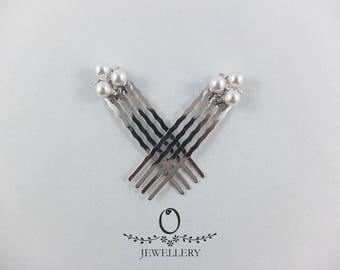 Mini Pearl Hair Combs (set of 2)