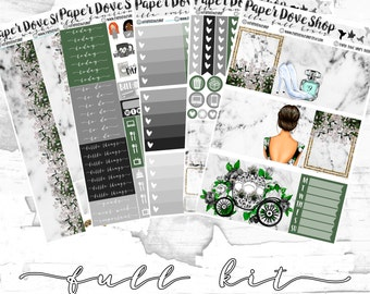 Ella Full Kit-- ECLP Vertical, Decorative Stickers, Planner Stickers, Fairytale Kit