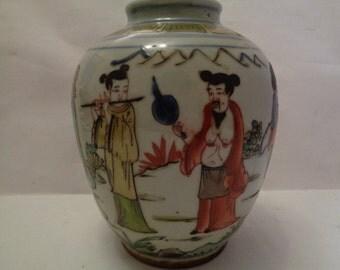 Wucai Chinese vase