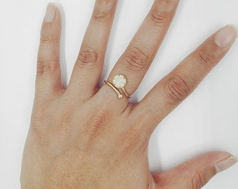 Eternal Love Diamond Ring 14K Solid Gold Ring Unique Ring Minimalist Ring