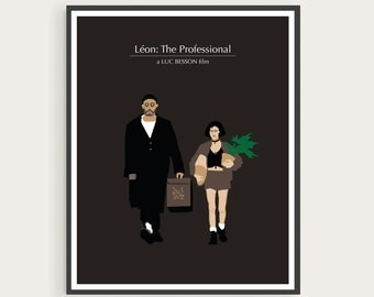 Léon: The Professional (1994), Luc Besson, Jean Reno, Natalie Portman, Minimal Movie Poster.