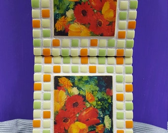 Mosaic Flowered Trivet