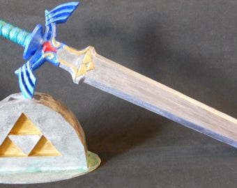 Legend of Zelda Cake Topper // Legend of Zelda Center Piece // Legend of Zelda Master Sword and Triforce Stone // Party Supplies