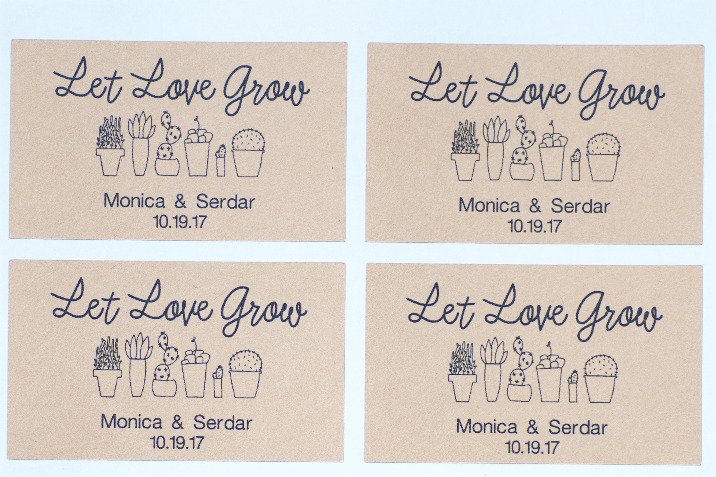 10 let love grow stickers seed packet kraft labels wedding