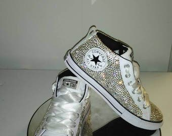 High/mid top Bling Converse, Chuck Taylor, Chucks, Allstars, shoes