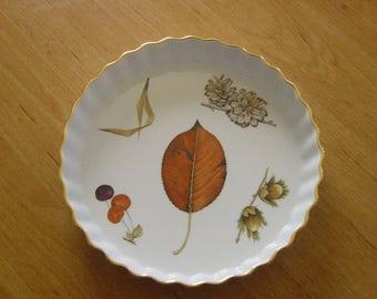 royal worcester evesham pattern quich/flan dish