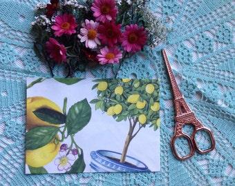 Handmade Lemon Envelope #1