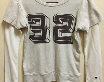Vintage 90's Champion 32 Classic Design Sweat Shirt Sweater Varsity Jacket Size L #A707