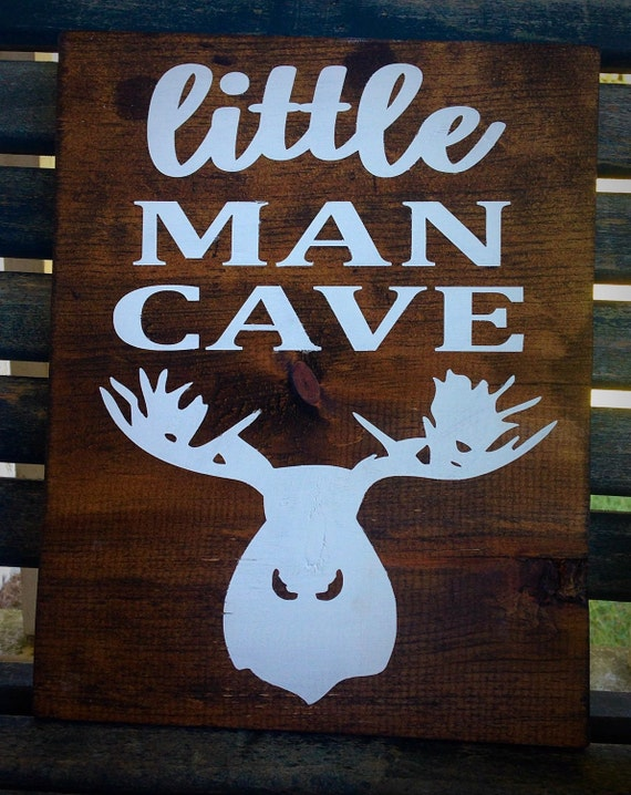 Man Cave Decor Etsy : Woodland nursery decor little man cave sign rustic