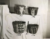Original photographs of hundreds of Native American Indian baskets. Pacific Northwest basketry private collection catalog. Antique photos