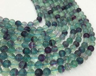 8mm  Rainbow Fluorite Beads. Round Beads. Gemstone Beads