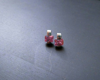 Pink Saphire Earrings