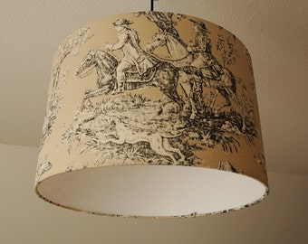 """Ceiling lamp """"toile de Jouy"""" (the hunt) (the hunting)"""