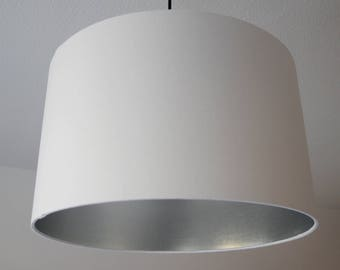 "Lampshade ""White-silver"""