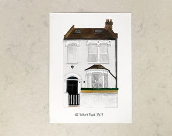 Your House (personalised painting of a house)