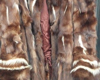 Skunk Fur Coat L-XL