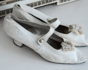 Beautiful Victorian bridal court shoes