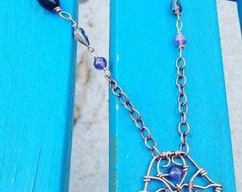 Hamsa necklace,  hamsa gemstone pendant, hamsa charm pendant, gifts for her, ethnic hamsa gemstone necklace, hamsa protection necklace, OOAK