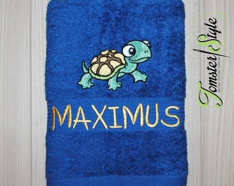Personalized Bath Towel; TURTLE; Embroidered towel; Bath Gift; Personalized Gift; Bath Towel; Personalized Towel; Bath; Beach Towel;Birthday