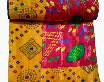 Kantha,Kantha Quilt,Picnic throw,Bedcover,Bed Cover,Table Cloth,throw,Picnic Sheet,Yoga Mat,sheet,baby Quilt,blanket,picnic blanket,sheet