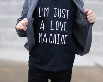 Love Machine Shirt - Valentine's Day Shirt - Boys Tshirt - Girls Tshirt - Baby t-shirt - Toddler Tshirt - Funny Kids Shirt - Trendy Kids Tee