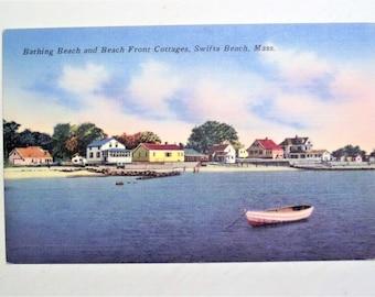 Vintage Postcard Swifts Beach, MA - Linen