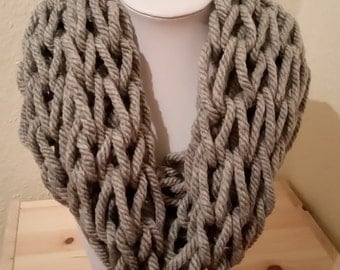 Handmade Arm Knitted Infinity Snood Scarf