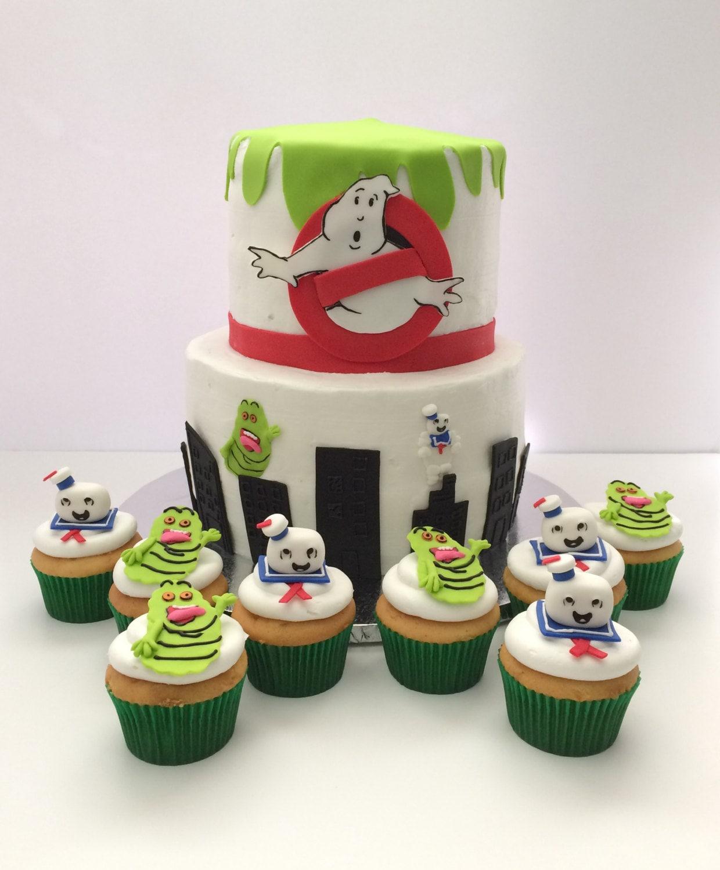 Ghostbusters Fondant Cake & Cupcake Topper