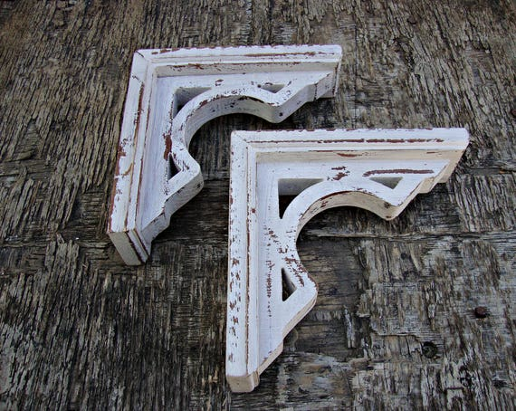 Shabby Chic Shelf Brackets Antique Wooden Shelf Bracket