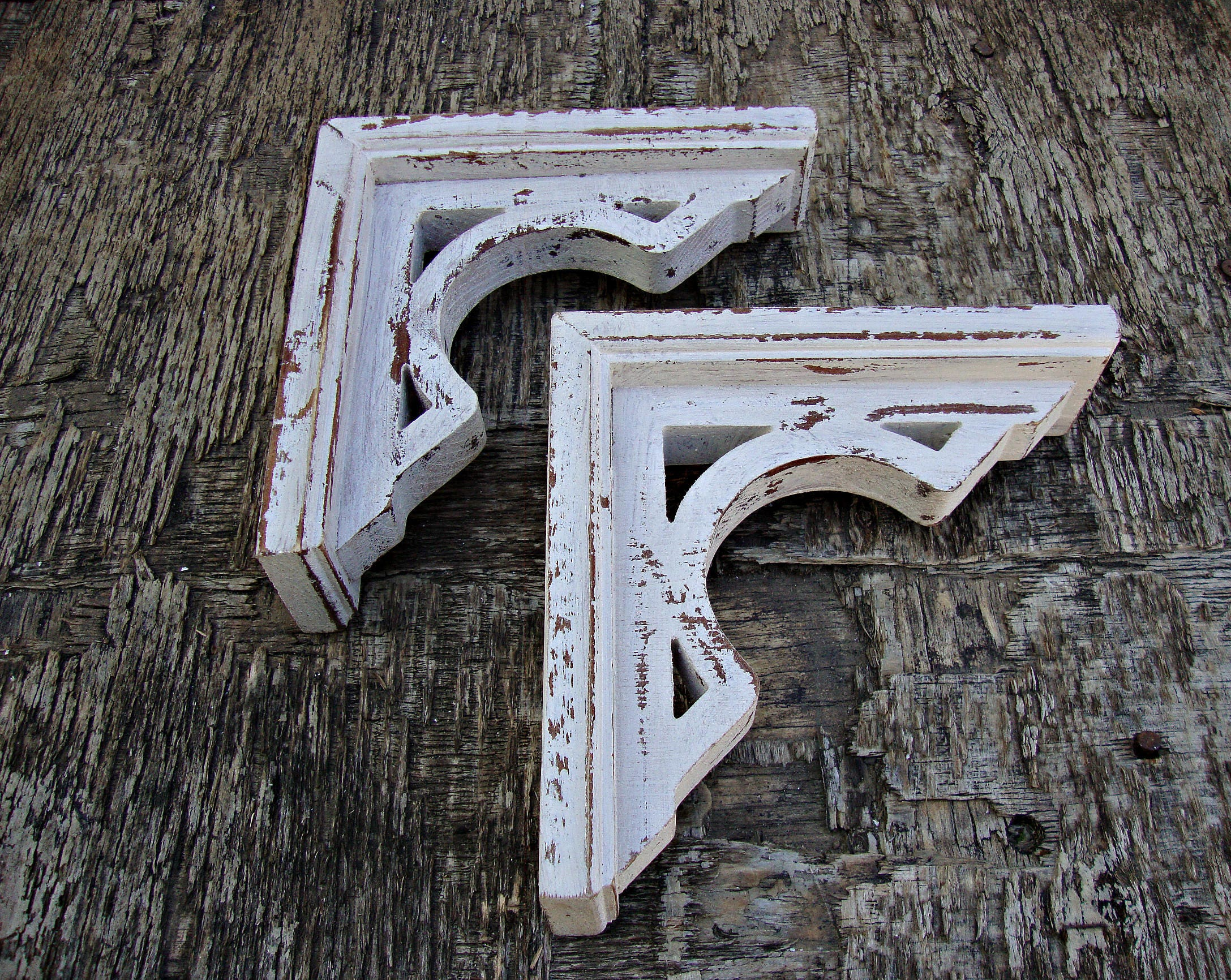 Shabby Chic Shelf Brackets Antique Wooden Shelf Bracket