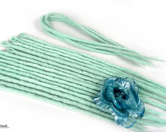 """Crochet Synthetic Dreadlocks """" Mint Melancholy """" DE or SE"""
