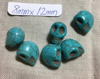 Skull Beads - Stone - Turquoise