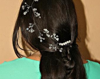 Clothing gift Bridal Diadem Crystals Bridal Wedding Headband Bridal Headpiece wedding headpiece Wedding Hairpiece Bridal Hair Vine Bridal