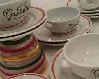 1960's Rare Porcelain Dishes from France