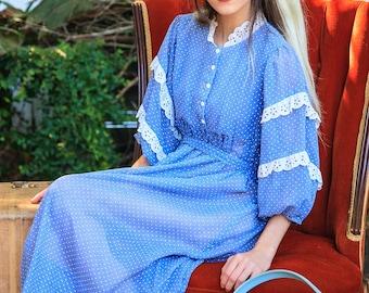 Sweet 1970s Bohemian Dress
