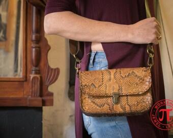Small snake leather bag
