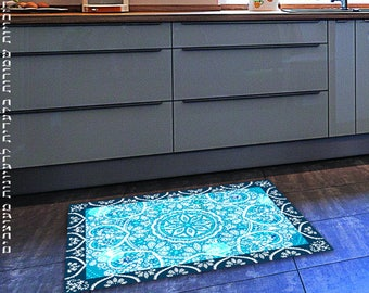 Vintage 1940s Linoleum 40s Floor Carpet Mid Century Flooring